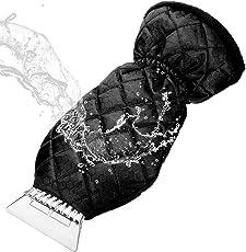 MATCC Eiskratzer Mit Handschuh Auto Eiskratzerhandschuh Innen Mit Velours Gefüttert Nie Eingefrorene Winter Kratzer Eiskratzer Handschuh Für Auto Windschutzscheibe Und Fenster Schneeschaufel Eisschaber (38*19cm)
