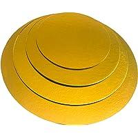 KITCHEN PARADISE Lot de 4 planches à gâteau rondes - Diamètre : 20 + 25 + 30 + 35 cm - Convient à un usage alimentaire…