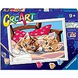 Ravensburger CreArt Gatitos en la almohada, Kit de Pintura, Pintar por Números, Juego Creativo para Niños y Niñas, Edad Recom