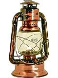 Dietz Original Sturmlaterne Wizard, große Petroleumlampe, altdeutsche Kupferlackierung, Höhe 29,2 cm