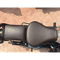 SaharaSeats Gunmetal and Signals & Pegasus Coffee Brown Seat Cover for Royal Enfield Classic 350/500 (Gunmetal and Signals & Pegasus, Seat Cover) (seat Cover)