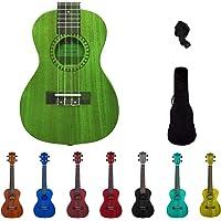 "Kadence Ukulele 23"" Concert Technology Wood Avacado Green with Bag and Strap (Green)"