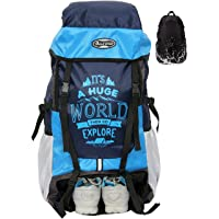Polestar Xplore 55 Liters Pu Coated Polyester Sky Rucksack Hiking Backpack With Rain Cover And Shoe Compartment