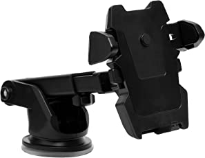 Amazon Brand - Solimo Quest Mobile Holder for Cars (360 Degree Rotation, Black)