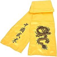 ShenLong - Ceinture Kungfu Dragon Brodée, Imitation Soie