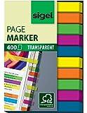 Sigel HN617 Haftmarker Film, Textstreifen, 1er Pack (400 extra schmale Streifen im Format 6 x 50 mm, 5 Farben - weitere Modelle)