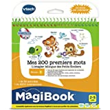 VTech - Livre MagiBook - Mes 200 premiers mots Français/Anglais - apprendre l'anglais - livre bilingue, livre éducatif – Vers