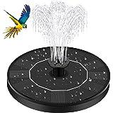 Gaocunh solfontän 4 munstycken fågelbad vattenpumpar soldriven fontän flytande stående 1/2,4 W gratis för trädgård och utepla