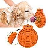 Autoau Hond Bad Lick Mat Krachtige Zuigingen aan de Muur Hond Baden Afleiding Apparaat Hond Slow Feeder Tray voor Gemakkelijk