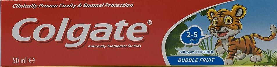 Colgate Bubble Fruit Toothpaste, 50ml, 2-5Y (Multicolour)