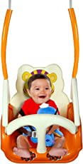 Toyboy Panda Baby Swing - with Multiple Age Settings | 4 Stages | - Orange