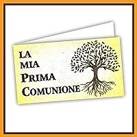 Bigliettini Prima Comunione per Bomboniera, fazzoletti,confetti e sacchetti - 60 pezzi pretagliati - Facili da…