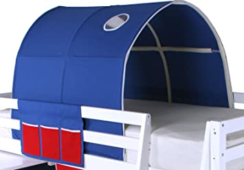 Beddybows Cabin Bed Tunnel Tent Fabric Blue Single Amazon.co.uk Kitchen u0026 Home & Beddybows Cabin Bed Tunnel Tent Fabric Blue Single: Amazon.co ...