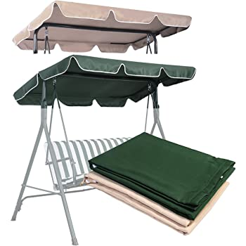 Garden Swing Replacement canopy to fit frame 150 x 115cm in Black Green /& Blue