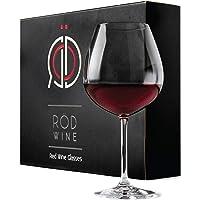 RÖD WINE Bicchieri Vino Rosso - Calici in Cristallo Senza Piombo - Ampia Coppa Ballon e Stelo Lungo - Ideali per…