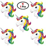 Unicorn Foil Balloon 1.5 Foot Small Pack of 5 Pices