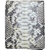 Vera pelle di serpente di pitone bifold portafoglio per gli uomini con 100% fatto a mano da vera pelle di pitone design vinta