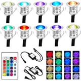 Bojim Lot de 10 Spots LED Encastrables Extérieurs en Acier Inoxydable, Mini Spot Etanche IP67 Ø30 mm, RGBW Multilumières Chan