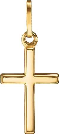 IDENTIM 94753 - Ciondolo a forma di croce, in vero oro 333 (senza catena), con croce in oro 8 carati