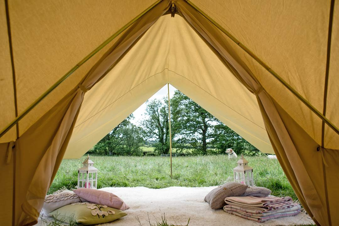 360 x 240cm AWNING 100% Cotton Canvas Suitable for 3m 4m 5m 6m Bell Tent Available in Sand or Grey 3
