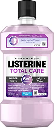 LISTERINE, Mouthwash, Total Care, Zero Alcohol, Smooth Mint, 250ml