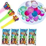 مجموعة بالونات مائية للاطفال والبنات والاولاد من سوفام، مجموعة من 444 بالون من بالونات الحفلات سريعة التعبئة، 12 مجموعة من اج