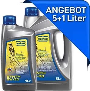 Leprinxol 5 1 Liter Synth 5w30 MotorÖl Das Richtige Kfz Motorenöl Für Normen Rn 0700 0710 F O R D Wss Ms 6395 O P E L Gm Ll A 025 B 025 5w 30 6 Liter Auto