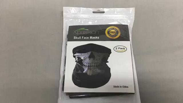 Xpassion Pasamontañas de Calavera 3 pzas Negros sin Costuras de Cara del Cráneo Máscara de Tubo Máscara Facial de la Motocicleta: Amazon.es: Deportes y aire ...