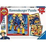 Ravensburger- Puzzle 3x49 pièces Sam Notre héros Pompier Enfant, 4005556050772