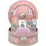 Coffret Cadeau Femme Soin 1 Gel Douche 250ml, 1 Creme Main 25ml, 1 savon 100g, 1 Lait Corps/Parfum Fleurs de cerisiers/Un Air