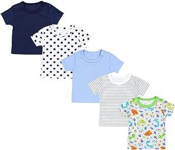 TupTam Magliette per Bambini Maniche Corte Pacco da 5