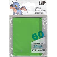 Ultra Pro Small Trading Card Yugioh / Cardfight Vanguard Sleeves 60 Per Pack 12 Colours 62mm x 89mm Yu-Gi-Oh Deck Protectors (Lime Green)