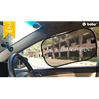 BOBO Car Sun Shade (Pack of 2) - 80 GSM with 15s Static Film (Highest Possible) for Full UV Protection - Universal Fit…