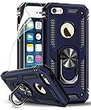 LeYi kompatibel with Hülle iPhone SE 2016/5S/5 Handyhülle mit Folie Schutzfolie,360 Grad Ringhalter Cover Bumper…
