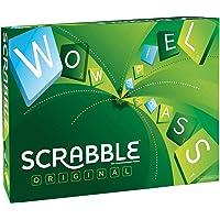 Mattel Games Y9598 - Scrabble Original Wörterspiel, Brettspiel geeignet für 2 - 4 Spieler, Spieldauer ca. 60 Minuten, Familienspiele und Wortspiele ab 10 Jahren