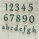 Colours-Manufaktur Huisnummer klassiek 0-9 en a-h *Made in Germany * vele maten selecteerbaar (30 cm, RAL 6005 mosgroen [groe
