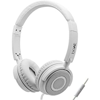 Boat Bass Heads 900 Wired Headphones with Mic (White)