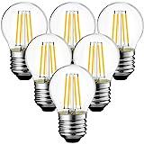 ANWIO 4W Ampoule LED Filament E27 G45, 470 lumens Equivalente à Ampoule Halogène Vintage 40W, 2700K Blanc Chaud, Non réglable