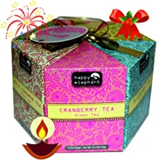 Turyaga Happy Elephant 48 Tea Bags Hexagon with Exotic Flavours- Blueberry, Cranberry, Apple Cinnamon, Peppermint, Peach (SKU 111B)