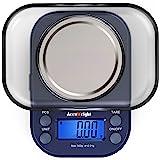 ACCUWEIGHT 255 Mini Báscula de Precisión Digitale para Joyería 300g x 0,01g Balanza de Portátiles Multifuncional con Pantalla