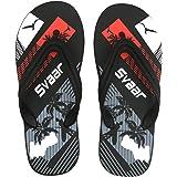 SVAAR Men's Black Flip-Flops