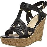 GUESS Women's Black Ll Fashion Sandals-4.5 UK (38 EU) (7 US) (gwHYPER2-B)