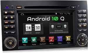 Xomax Xm D10za Autoradio Mit Android 10 Passend Für Mercedes A Klasse W169 B Klasse W245 Vito Viano Sprinter W906 I Gps Navigation Dvd Cd I Bluetooth 7 Zoll 18 Cm Touchscreen Usb Sd Navigation