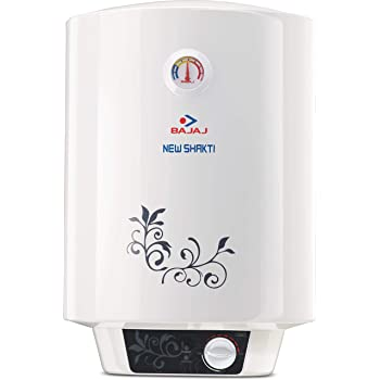 Bajaj New Shakti GL 15-Litre Vertical Storage Water Heater (white)