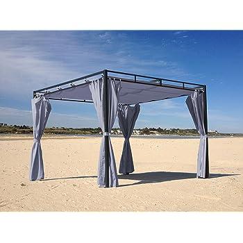 flachdachpergola firenze 3x3 meter grau mit seitenwand set k che haushalt. Black Bedroom Furniture Sets. Home Design Ideas