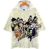 Unisex zomer korte mouw Harajuku Hoodie T-shirts 3D Naruto