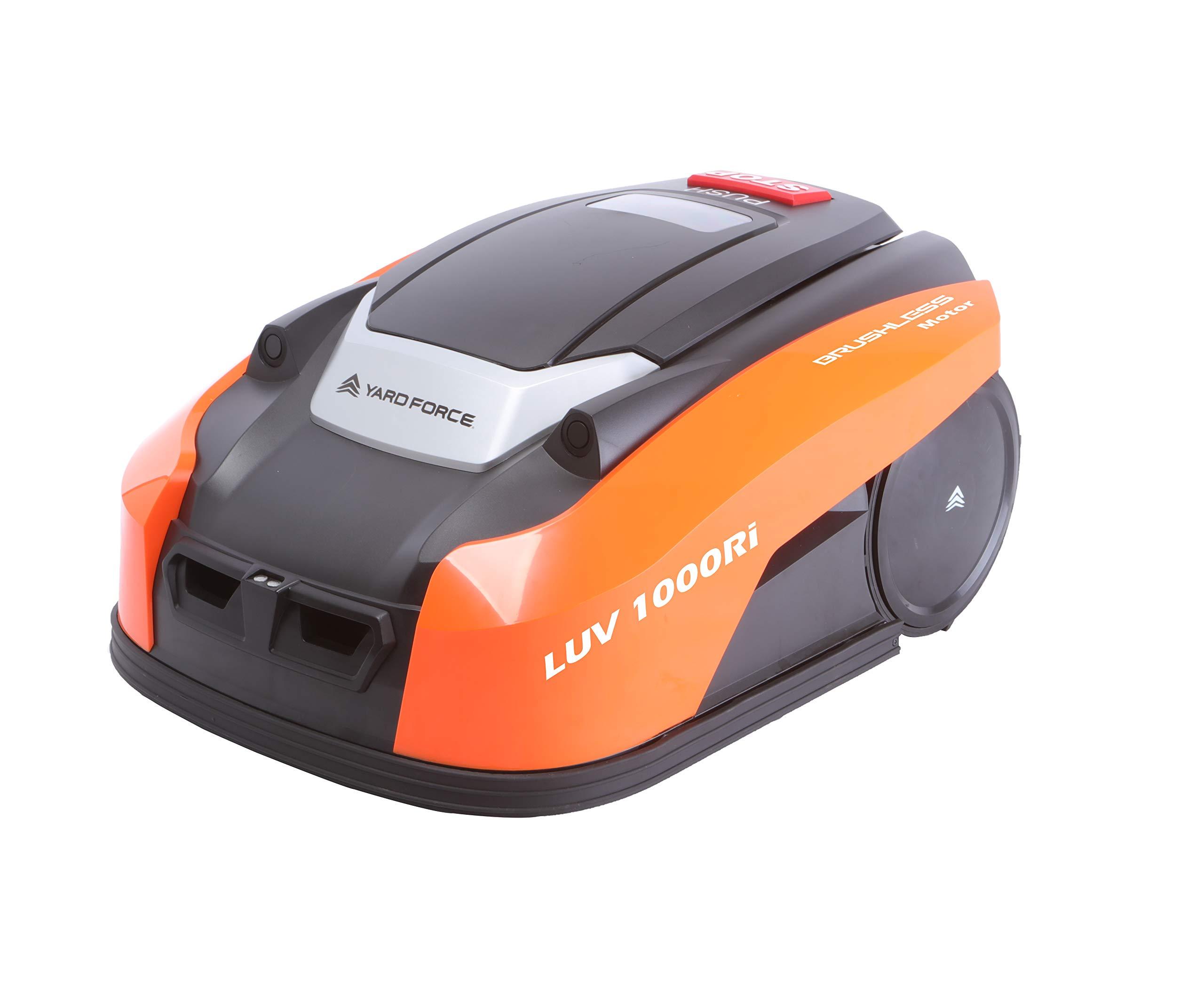 Yard Force LUV 1000Ri Mähroboter bis zu 1000 qm mit WLAN-Verbindung, iRadar Ultraschallsensor, Rasenkanten-Funktion