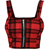 WearAll – Maglia da donna rossa Tartan con stampa testata, 1 colori, taglie 36 – 42
