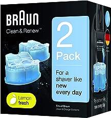 Braun Clean & Renew Reinigungskartuschen CCR 2 für Series 3-9 Elektrorasierer, 2 Stück