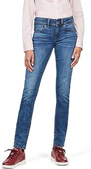 G-STAR RAW Midge Saddle Mid-Waist Straight' Jeans Donna